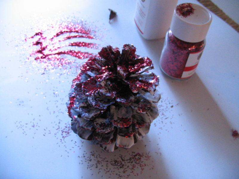 Glitter Pinecones, 4
