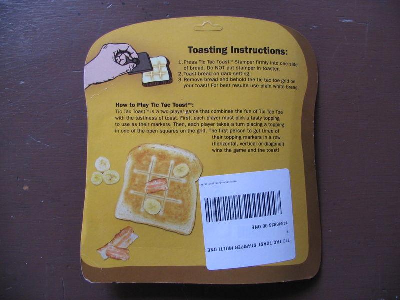 Back Tic Tac Toast