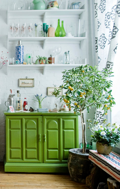 Citrus and cabinet
