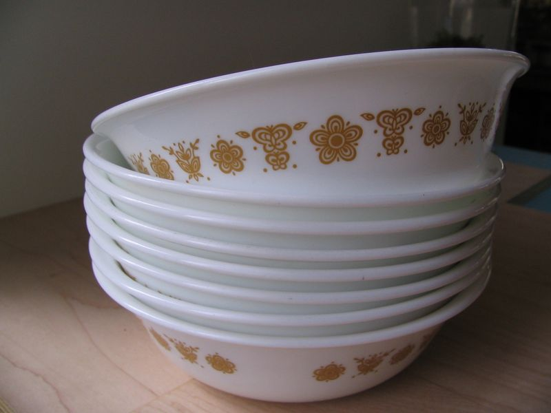 Butterfly Gold Bowls
