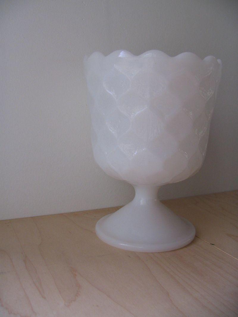 Vintage Milkglass Compote