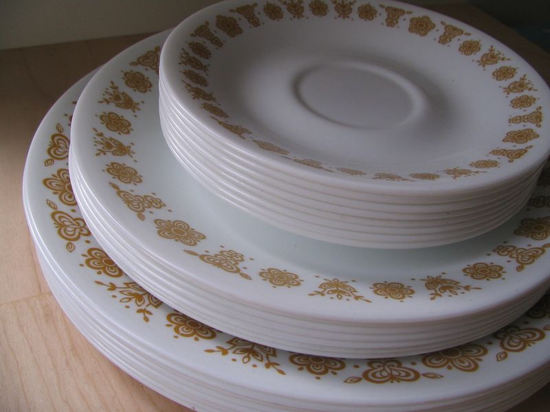 Butterfly Gold Plates