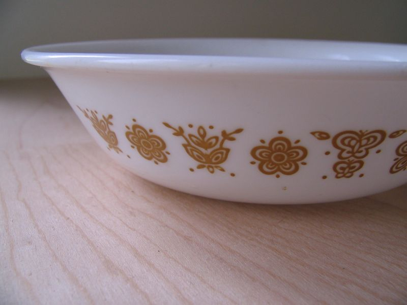 Butterfly Gold Bowl