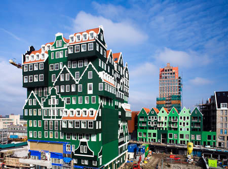 It's a hotel in the Netherlands by WAM...more here. Ah, the use of  traditional regional architecture in a new way!