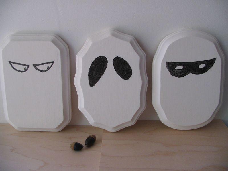 Three Spooky Eye Plaques, 2