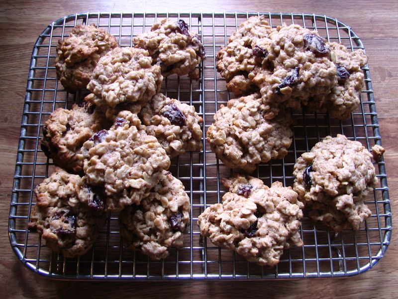 Oatmeal Dried Cherry Cookies_e