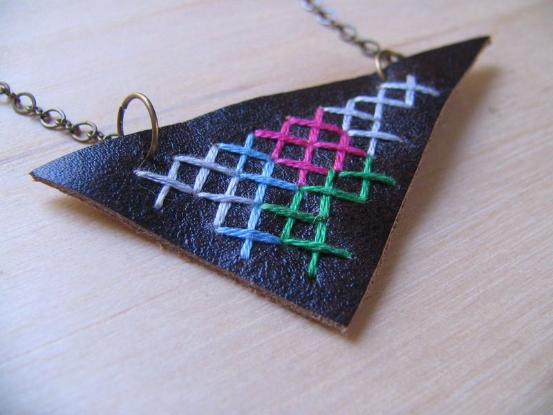Abstract Fragment Necklace 1,1